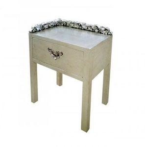 DECO PRIVE - chevet argente modele constellation deco prive - Side Table