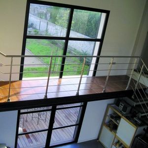 L'ECHELLE EUROPEENNE - inox ? verre gaudi - Stair Railing