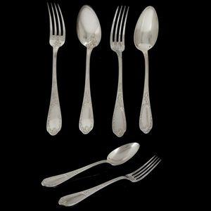 Expertissim - ercuis. douze couverts de table en métal argenté - Cutlery Service