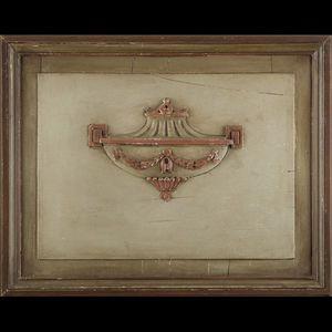 Expertissim - trumeau à miroir en bois laqué de style directoire - Trumeau
