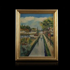 Expertissim - élisée maclet. le canal - Landscape Painting