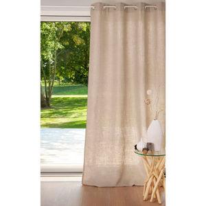 Maisons du monde - rideau lin lourd naturel - Eyelet Curtain