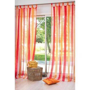 MAISONS DU MONDE - rideau rayure framboise - Lace Curtain