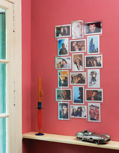 SLIMPY CADRES SANS CLOU NI VIS - slimpy puzzle carré miroir - Multi View Picture Frame