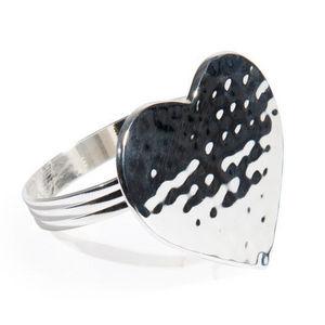 Maisons du monde - rond de serviette coeur martelé - Napkin Ring