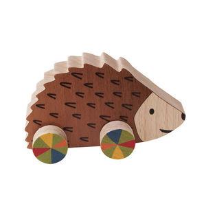 ANIM'EN BOIS - hérisson à roulettes (1-3 ans) - Wooden Toy