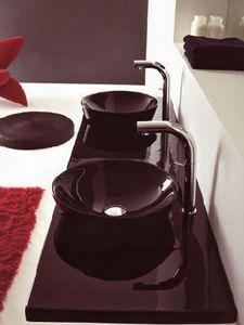 Wall basin mixer