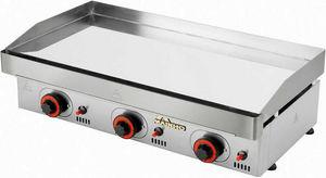 Mainho - plancha à gaz mainho en acier chromé 80x45x20cm - Griddle