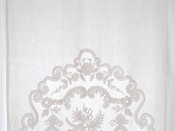 Coquecigrues - mini rideau borgia ivoire - Ready To Hang Curtain