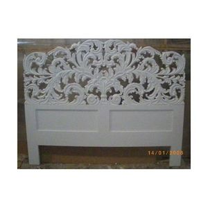 DECO PRIVE - tete de lit en bois blanc sculpte elise - Headboard