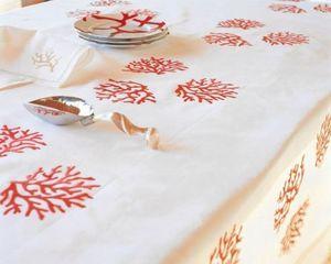Noel - coraux - Rectangular Tablecloth