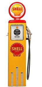 US Connection - pompe à essence shell jaune/rouge - Statue