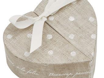 Mathilde M - boîte coeur pois - Decorated Box