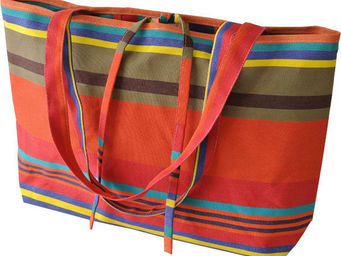 Les Toiles Du Soleil - sac plage tangerine - Shopping Bag