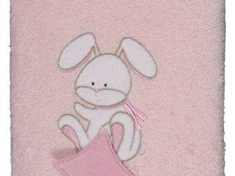 SIRETEX - SENSEI - drap douche 70x140cm doudou rabbit rose - Children's Bath Towel