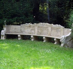 HARMONIE DU LOGIS - travertin - Garden Bench