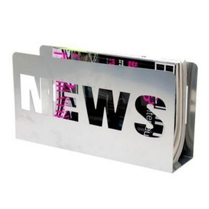 Present Time - porte-revues news - couleur - argenté - Magazine Holder