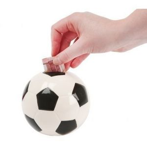 Present Time - tirelire football céramique - Piggybank