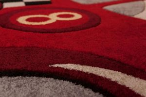 NAZAR - tapis amigo form 133x180 red - Children's' Rug