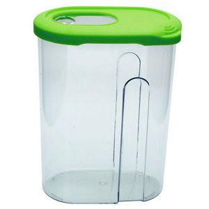 WHITE LABEL - boite verseuse en plastique transparent - Biscuit Tin