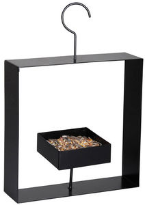 BEST FOR BIRDS - mangeoire soucoupe à crochet en métal noir 24x30x6 - Bird Feeder