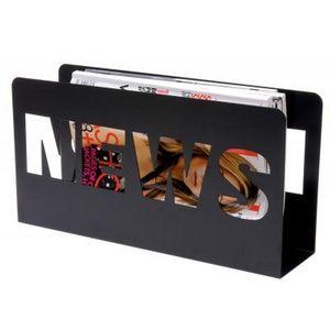 Present Time - porte-revues news - couleur - noir - Magazine Rack