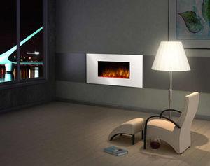 CHEMIN'ARTE - cheminée design white loft en acier et mdf laqué b - Fireplace Insert