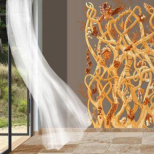 ATELIER MARETTE - diversité or, gold - Panoramic Wallpaper