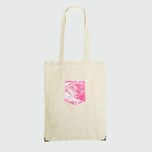 JOVENS - tote bag pocket jungle rose - Handbag