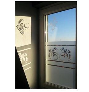 J'HABILLE VOS FENETRES - plumes baroques - Privacy Adhesive Film
