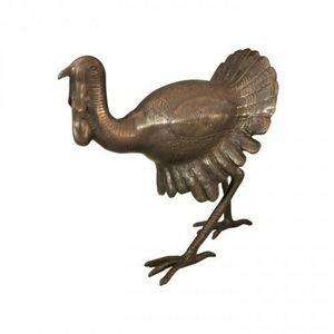 Demeure et Jardin - dindon en bronze - Animal Sculpture