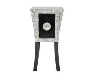 Demeure et Jardin - chevet laque noire et coquille d'oeuf art déco se - Bedside Table