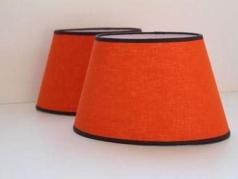 Abat-jour - abat-jour ovale orange - Oval Lampshade