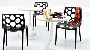 Calligaris - petite table ronde area t 60x60 blanche de calliga - Round Diner Table