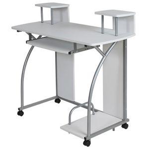 WHITE LABEL - bureau enfant meuble chambre blanc - Operative Desk