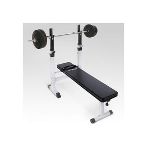 WHITE LABEL - banc de musculation avec set haltère 40 kg - Exercise Bench