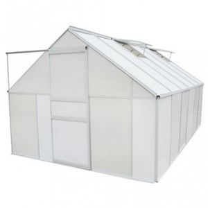 WHITE LABEL - serre de jardin polycarbonate 9,25 m² - Greenhouse