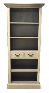 Demeure et Jardin - petite bibliothèque ivoire intèrieure gris - Open Bookcase