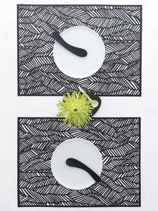 CHILEWICH - black drift - Place Mat