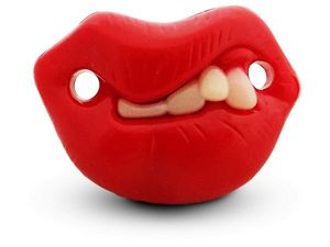 WHITE LABEL - sucette insolite et drôle tétine avec bouche défor - Pacifier