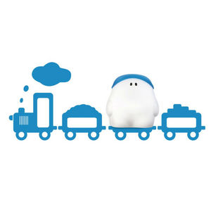 Philips - buddy - applique et sticker train bleu h26,6cm | l - Children's Wall Lamp