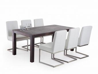 BELIANI - tables et chaises - Rectangular Dining Table