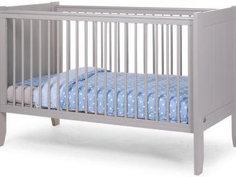 WHITE LABEL - lit bébé évolutif 70x140cm coloris gris - Travel Cot