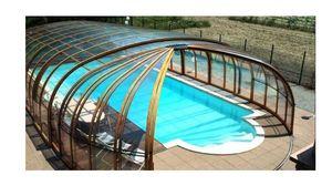 Sesame - rotonde- - Sliding/telescopic Pool Enclosure