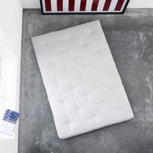 WHITE LABEL - matelas futon traditionnel écru 140*200cm - Futon