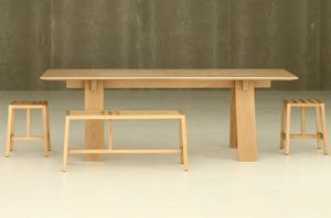 BRANCA - trave-- - Rectangular Dining Table