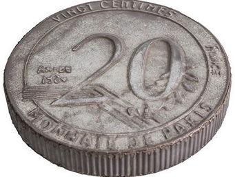 Antic Line Creations - dessous de plat zinc 20 centimes - Plate Coaster