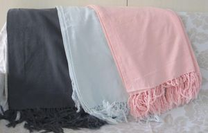 ITI  - Indian Textile Innovation - solid with stone washed - Coverlet / Throw
