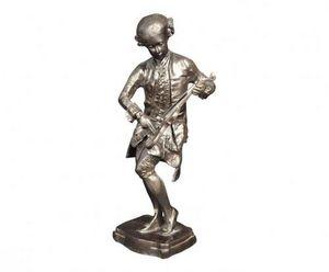 Demeure et Jardin - statue de violoniste en bronze mozart - Figurine