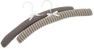 Aubry-Gaspard - cintre en bois et tissu shabby (lot de 6) - Coat Hanger
